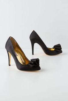 Rolling Ribbon Satin Pumps