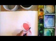 My new favorite watercolor technique! How to control watercolor while adding fluid color www.AngelaFehr.com #watercolor