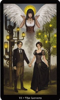 The Lovers - The Steampunk tarot