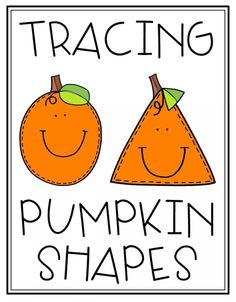 Shape Tracing Worksheets: With these amazing, cute and educational Pumpkin Tracing Sheets your preschool students will learn how to trace various shapes. Students will learn the names of each shape and how to draw each Fall Preschool Activities, Preschool Colors, Preschool Writing, Free Preschool, Preschool Classroom, Preschool Fall Theme, Halloween Activities, Shape Tracing Worksheets, Shapes For Kids