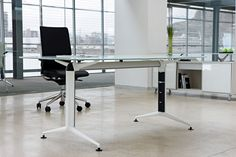 Glass desk – All architecture and design manufacturers – Videos, – Glass Office Desk Glass Office, Glass Desk, Office Furniture, Office Desk, Architecture Design, Desks For Small Spaces, Desk Storage, Modern Desk, Small Office