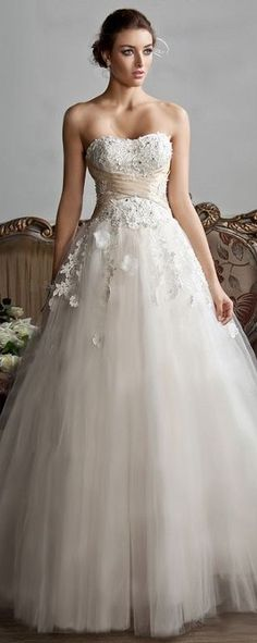 Wedding Dress-just add to the top...love the flow & lace
