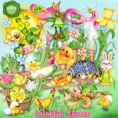 Digital Designer Resources Colorful Easter Tagger Sizes [colorfuleaster_tg_ld] - Tagger Sized Kit 117 elements, PNG, 300 dpi 28 papers, JPG, PU only Easter Colors, Lemur, Scrapbook Supplies, Digital Scrapbooking, Craft Projects, Kit, Colorful, Crafts, Etsy