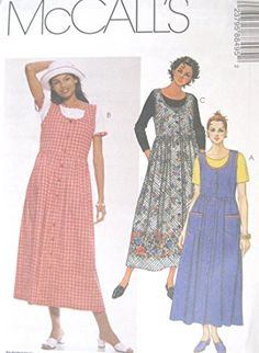 Misses Jumper and Top Sewing Pattern Front Button McCall…