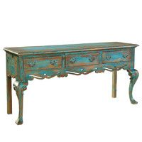 This shape is similar to mine. Mine is black, with two rows of drawers, and Asian figures painted on it.
