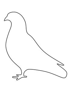 Pigeon pattern. Use the printable outline for crafts, creating stencils, scrapbooking, and more. Free PDF template to download and print at http://patternuniverse.com/download/pigeon-pattern/