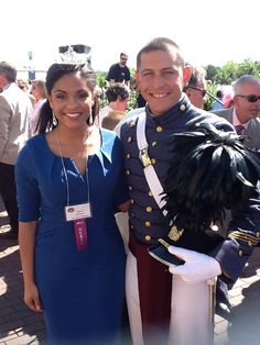 Repinned from Ram Gabriel: Miss Alexis Gonzalez who is Miss Greater Wilmington with her handsome Cadet Escort at the Coronation Ceremony