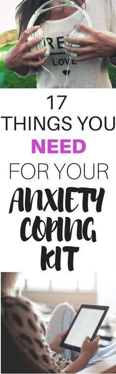 Ideas for creating your very own anxiety coping kit that can help you feel better when you're anxious. These are great tools for managing anxiety.