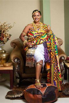 Nana Ama McBrown in traditional Kente cloth, African fashion, Ankara, kitenge, A. Nana Ama McBrown in traditiona. African Dresses For Women, African Print Dresses, African Attire, African Fashion Dresses, African Wear, African Prints, African Outfits, African Clothes, Ankara Fashion