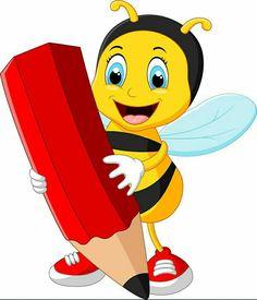 Cartoon Bee, Cartoon Pics, Cute Dog Drawing, Bee Clipart, Bee Pictures, Kids Cartoon Characters, Vintage Illustration Art, Cute Bee, Art Drawings For Kids