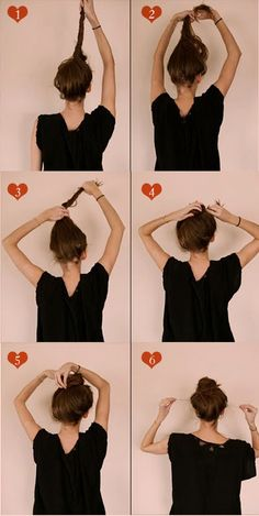 How to: Easy messy bun - The 'twisting' part is key to getting all of my hair up!