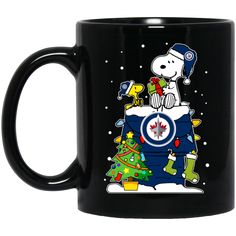 Winnipeg Jets Mug Christmas Snoopy Coffee Mug Tea Mug