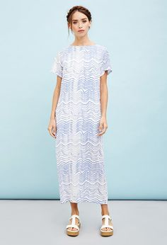 2993884a755ef The Whitepepper Wave Shift Dress
