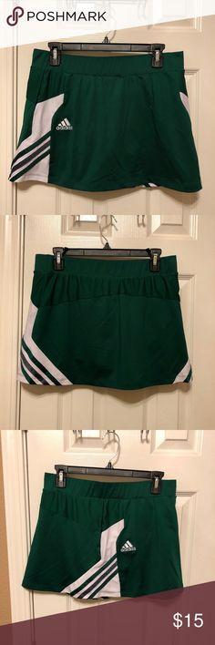 Adidas Tennis Golf Skort Like new, Adidas Tennis Golf Skort. Green with white, gray, green stripes. Medium adidas Skirts