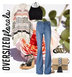 """""""Flower power"""" by thebollings on Polyvore featuring Stella & Dot, Frame Denim, Jimmy Choo and River Island"""