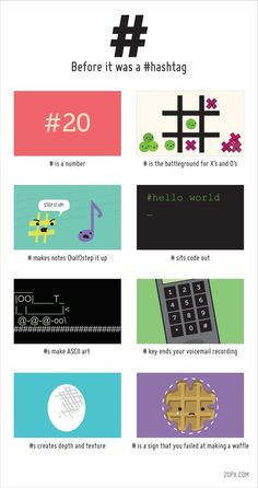 Before It Was A Hashtag [Infographic] - The history of the # symbol (number sign, pound, hash, etc. Social Media Humor, Social Media Marketing, Affiliate Marketing, Social Networks, Business Marketing, Online Marketing, Online Business, Digital Marketing, Ascii Art
