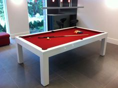 White High Gloss Billiards Montfort Lewis Pool Dining Table | Home Leisure  Direct | Customer Installation