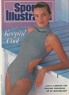 1989 Paulina Porizkova St. Barthelemy Swimsuit Sports Illustrated Original Print