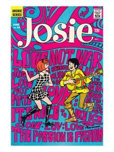 Archie Comics Retro: Josie Comic Book Cover #34 (Aged) Art Print