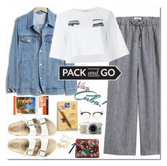 """""""Pack and Go"""" by yagmur ❤ liked on Polyvore featuring Birkenstock, Toast, Thom Browne, DK, Vera Bradley, Gap and Chiara Ferragni"""