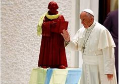 A Reuters File Photo shows Francis with a Statue of Martin Luther  Nearing 500 year anniversary of the Protestant revolt, Vatican ramps up Vatican II era ecumenism