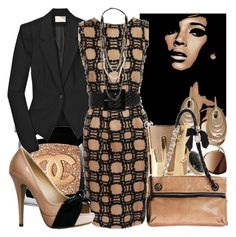Work Chic by dianelynn on Polyvore featuring polyvore, fashion, style, Marni, Elizabeth and James, Wanted Shoes, Lanvin, Kara by Kara Ross, Carla Amorim, PENNY LEVI, Monica Vinader, B-Low the Belt, H&M, Chanel, Forum and clothing