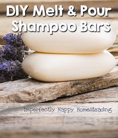 These DIY Melt and Pour Shampoo bars are quick and easy to make; not to mention they are less expensive than the spa store brands. Great for traveling!