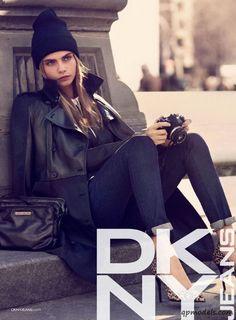 Cara Delevingne and Ollie Edwards for DKNY Fall/Winter 2013-2014 - http://qpmodels.com/european-models/cara-delevingne/2100-cara-delevingne-and-ollie-edwards-for-dkny-fall-winter-2013-2014.html