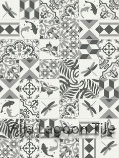 Villa Lagoon Tile--Patchwork Elegance from Morocco...to order.