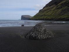Black sand beach. Faroe Islands.
