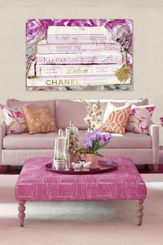 Oliver Gal Elegance Fine Art Canvas by Oliver Gal Gallery on would love this painting for a girly office in the house! Home Living Room, Apartment Living, Living Room Decor, Style At Home, Oliver Gal Art, Woman Cave, My New Room, Home Decor Inspiration, Decorating Your Home