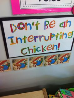 Book and activities for kids who interrupt