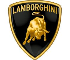 The shape of the Lamborghini logo depicts a shield and demonstrates golden snorting bull. The bull represents Lamborghini sports cars' power, speed, and prestige. Lamborghini Gallardo, Lamborghini Logo, Carros Lamborghini, Ferrari Logo, Pagani Huayra, Station Wagon, Buick, Car Logos With Names, Dream Cars