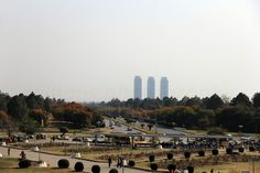 Beautiful city of Islamabad, Centaurus  towers in the backdrop.