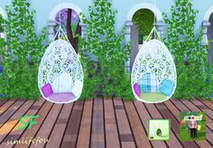 Hanging chair at Simlife via Sims 4 Updates Sims 3, The Sims 4 Pc, Maxis, Pelo Sims, Sims Games, Sims 4 Cc Furniture, The Sims 4 Download, Sims 4 Build, Sims 4 Update