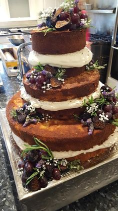 Naked cake, made by Chef Brad and the crew at the Historic McFarland House.