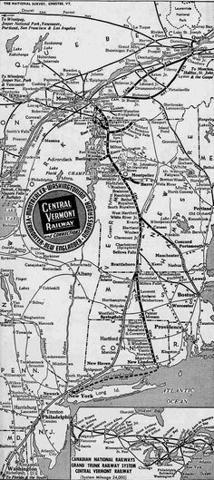 The Central Vermont Railway was a small through main route that connected Cantic, Quebec and New London, Connecticut.  Today, it is owned by the New England Central.
