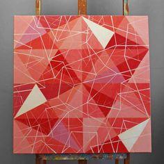 Magdalena Purol TRIGO NUM 2, 70 x 70 cm oil painting #art #triangles #oilpaintings