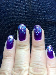 Purple with fiesta glitter tips
