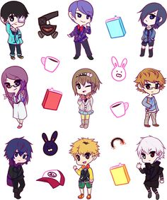 Tokyo Ghoul Chibi: Stickers | Redbubble