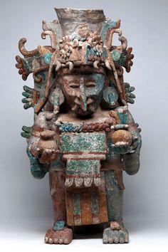 Incensario efigie Chac • Maya, 1250-1521