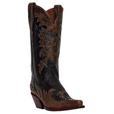Dan Post Western Boots Womens Leather Amy Overlay   DP3508