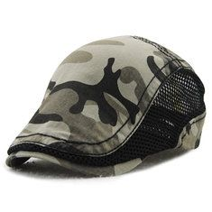 3be3c324309b5 Men Women Camouflage Mesh Cotton Beret Cap Camo Newsboy Gorras Visors Sun  Hat is hot sale on Newchic Mobile.