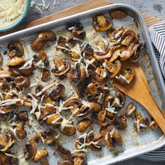 Mar 2020 - These super-flavorful mushrooms get a hint of sweetness thanks to a splash of balsamic vinegar. Parmesan cheese added at the end lends a savory note. Enjoy them as an accompaniment to steak or on their own as a side dish. Side Dish Recipes, Vegetable Recipes, Vegetarian Recipes, Cooking Recipes, Healthy Recipes, Mushroom Recipes, Healthy Eats, Burger Recipes, Veggie Food