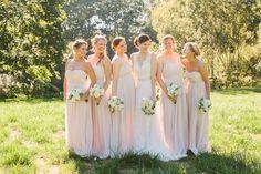 Jenny Yoo Pink Bridesmaids | photography by http://www.rebecca-arthurs.com
