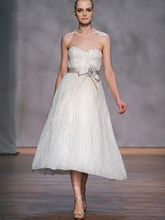 There add some colored ribbons and embroidered details with your wedding dresses. Summer wedding dress and clothing-optional think bright silhouette