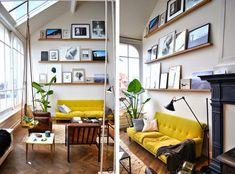 canapé jaune pour un intérieur très gai