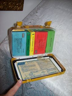 Vintage Metal First Aid Kit Box w/ Contents by Norton Wall Mountable Only 14 USD by SusOriginals on Etsy