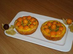 Crostatine di #alchechengi e frutti della passione | Ricetta di Clelia Dessì | #RisanaLa