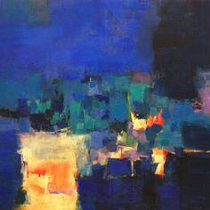 個人所蔵作品 Private Collection: Hiroshi Matsumoto - Abstract Oil Painting & Cats